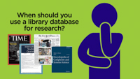 Click here to view the video titled What Is a Library Research Database